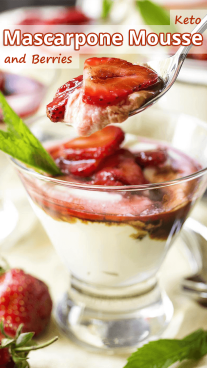 Keto Mascarpone Mousse and Berries