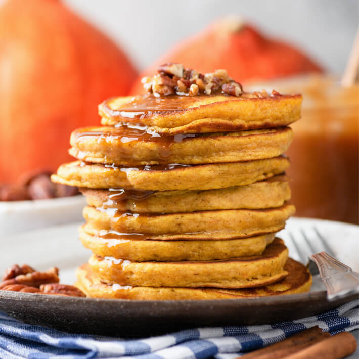 Low Carb Pumpkin Pancakes