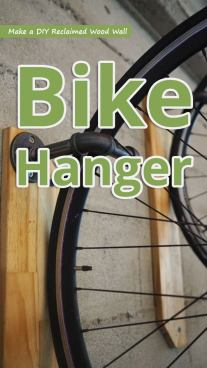Make a DIY Reclaimed Wood Wall Bike Hanger
