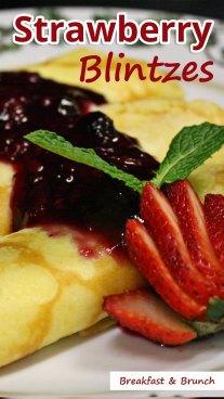 Strawberry Blintzes
