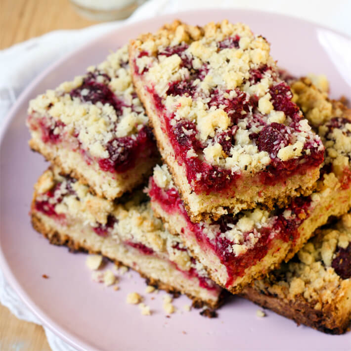 Keto Coconut Raspberry Slice