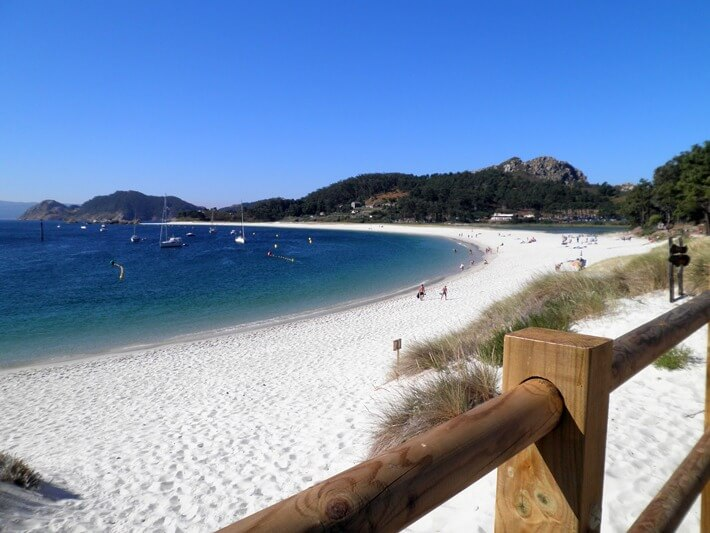 The beaches of the Cíes Islands, Galicia, Spain
