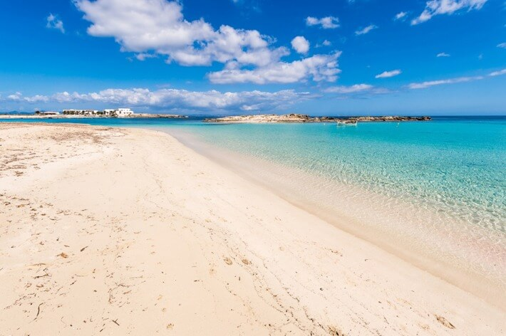 Playa de S'alga on Isla de Espalmador, the Balearics