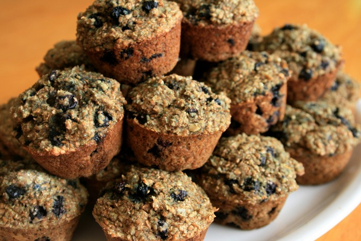 Banana-Blueberry Bran Muffin