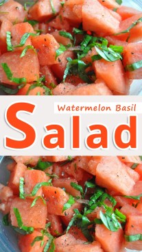 Watermelon Basil Salad