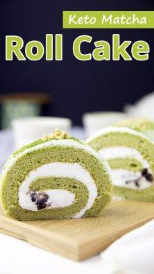 Keto Matcha Roll Cake