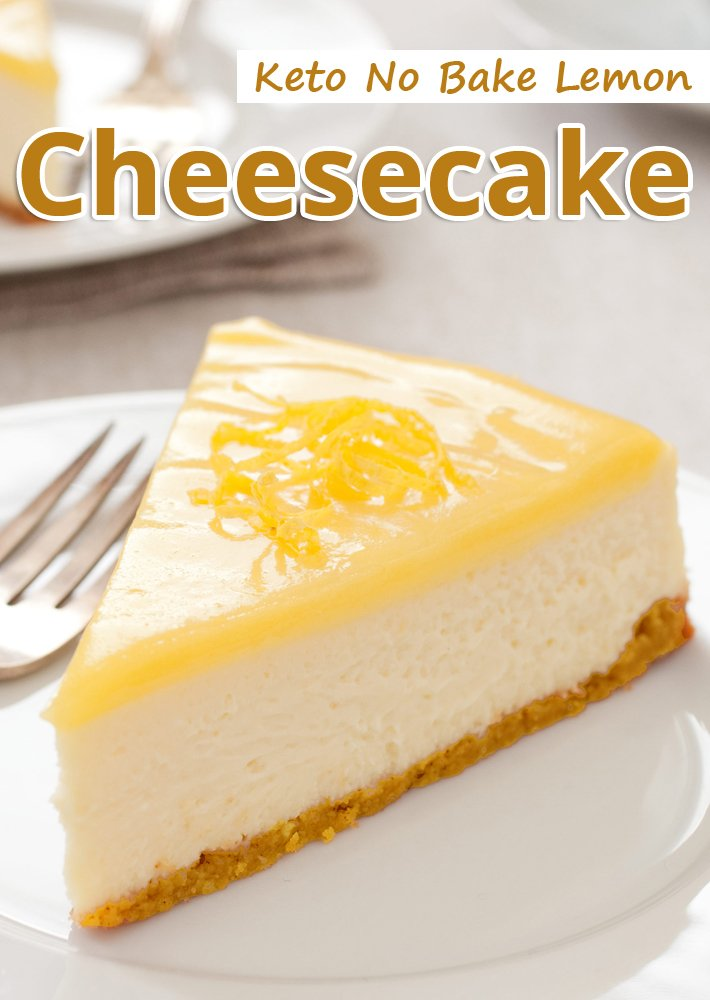 Keto No Bake Lemon Cheesecake
