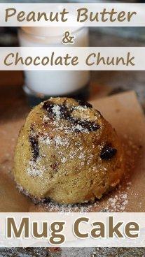Peanut Butter and Chocolate Chunk Mug Cake