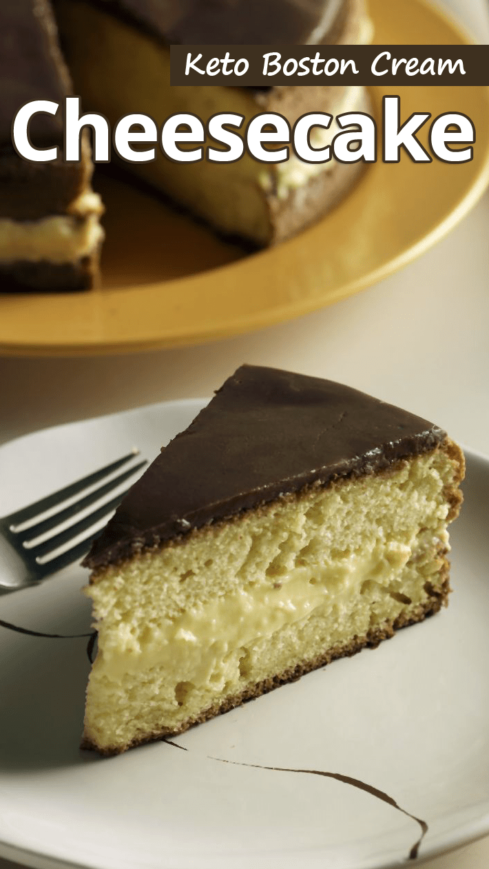Keto Boston Cream Cheesecake