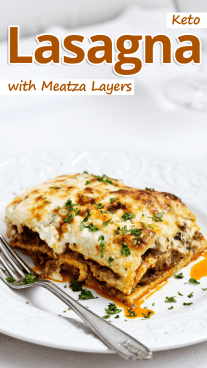 Keto Lasagna with Meatza Layers