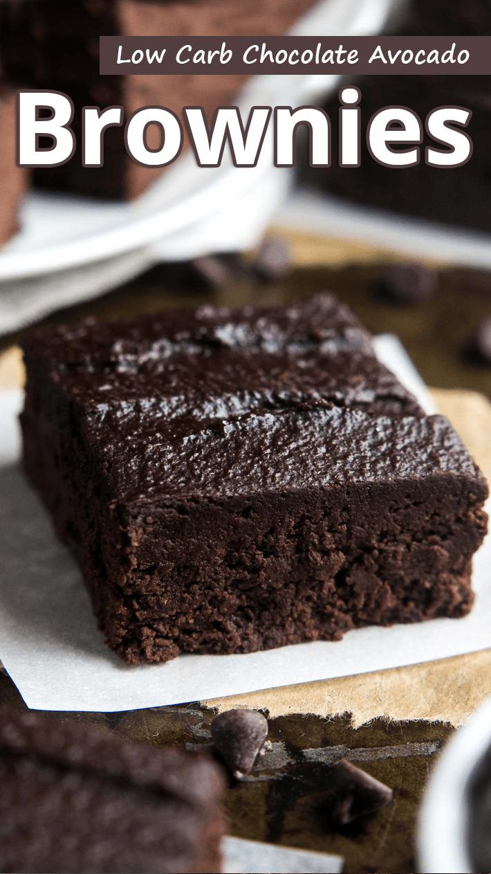 Low Carb Chocolate Avocado Brownies