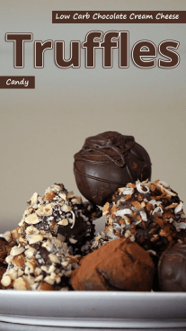 Low Carb Chocolate Cream Cheese Truffles Candy