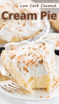 Low Carb Coconut Cream Pie