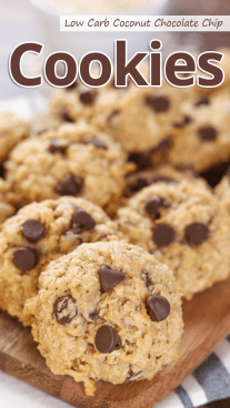 Low Carb Coconut Chocolate Chip Cookies