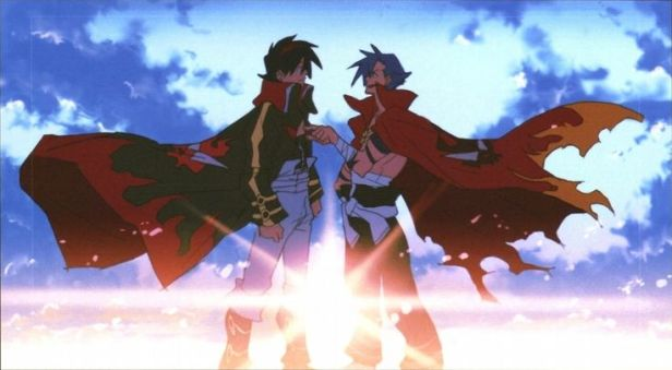 Simon and Kamina bromance