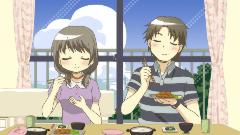 anime where two people are forced to live together