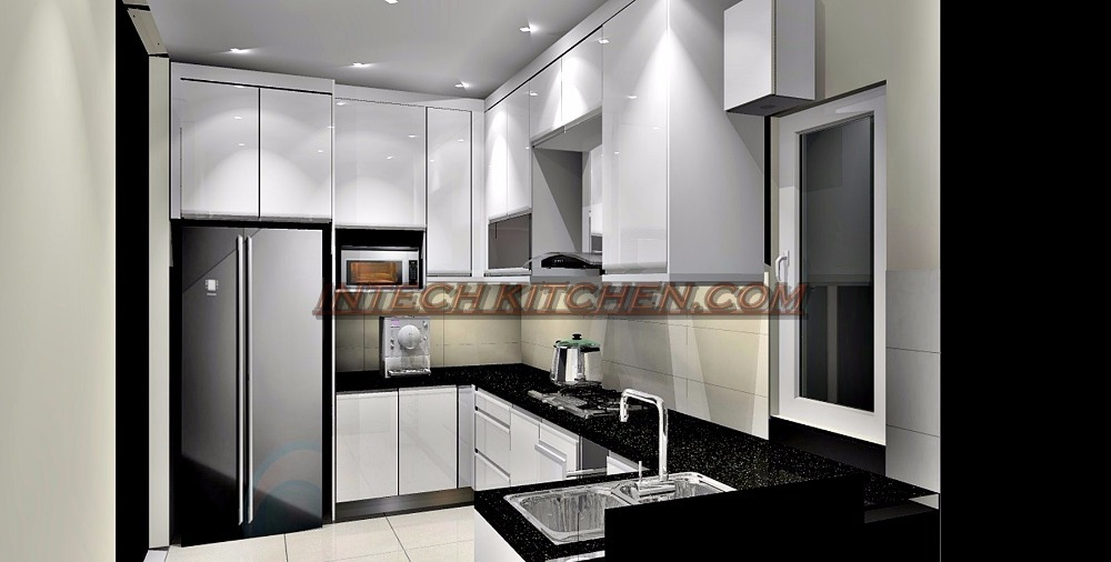 Kitchen Cabinet At PPA1M Selasih Apartment By Intech Kitchen Sdn Bhd
