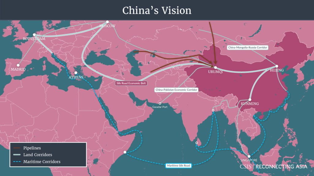 Belt and Road Vision Map