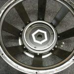 1) cleaned speaker basket ready for refoaming