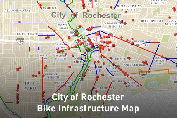 City of Rochester Bike Infrastructure Map