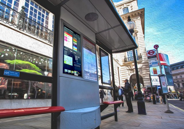 Bus Stop with real-time information