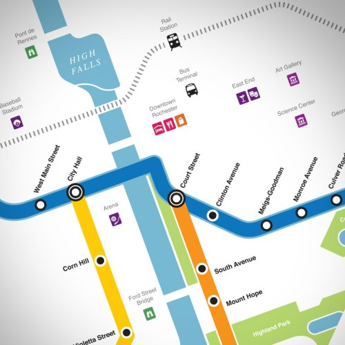 Subway Map Downtown.The Rochester Subway Map