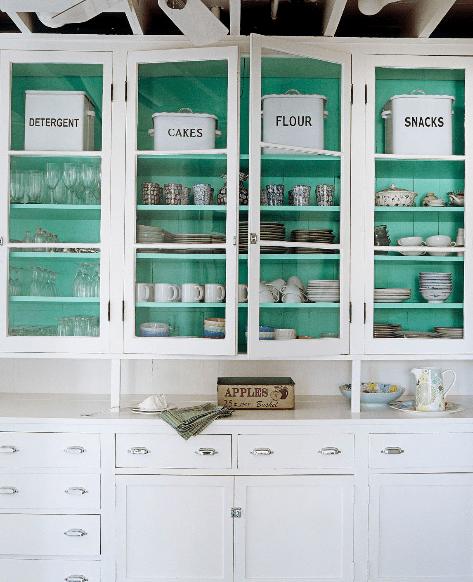 κουζινα ανοιχτη πετρολ