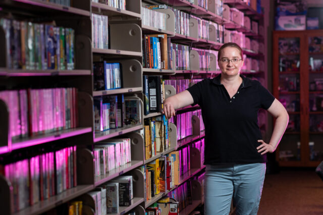 Val Waldron is the manager of the Computer and Video Game Archive at the U-M Library. (Eric Bronson, Michigan Photography)