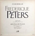 フレデリク・ペータース Frederique Peters / ピアノリサイタル