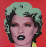 "First pressing of Dirty Funker's ""Let's Get Dirty"" Single with Banksy's portrait of Kate Moss."