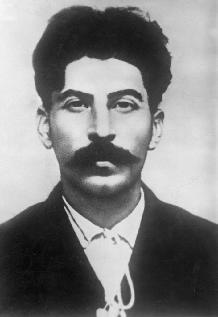 1911: Headshot portrait of young Russian revolutionary and political leader Josef Stalin (1879 - 1953). (Photo by Hulton Archive/Getty Images)