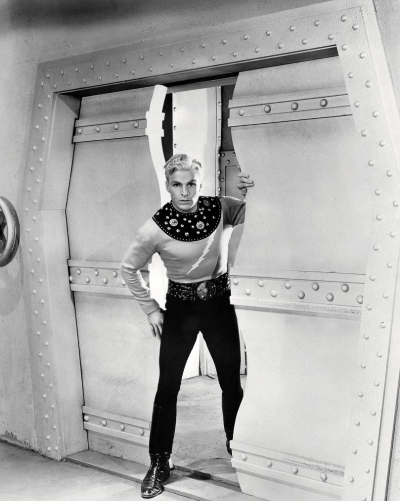 American athlete and actor Buster Crabbe (1908 - 1983) in the title role of the science fiction film serial 'Flash Gordon', 1936. (Photo by Silver Screen Collection/Getty Images)