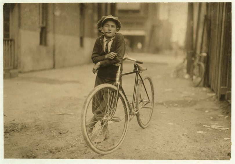 lewis hine child workers telegraph boy