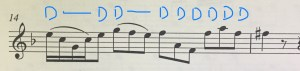 Notation with tonguing