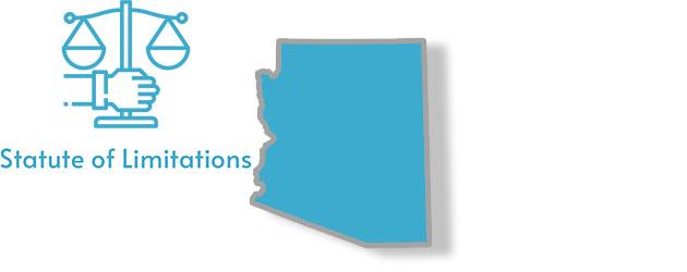 A stylized image of Arizona withe the writing statute of limitations