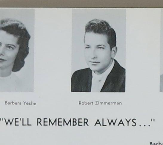Bob Dylan  1959 Hibbing High School Yearbook