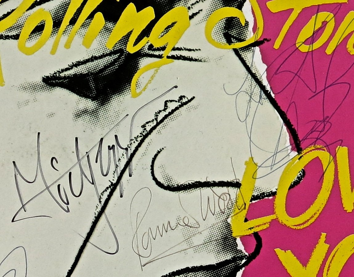 Rolling Stones  Love You Live LP Signed by Stones and Andy Warhol with Extensive Photo