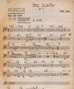zappa sheet music