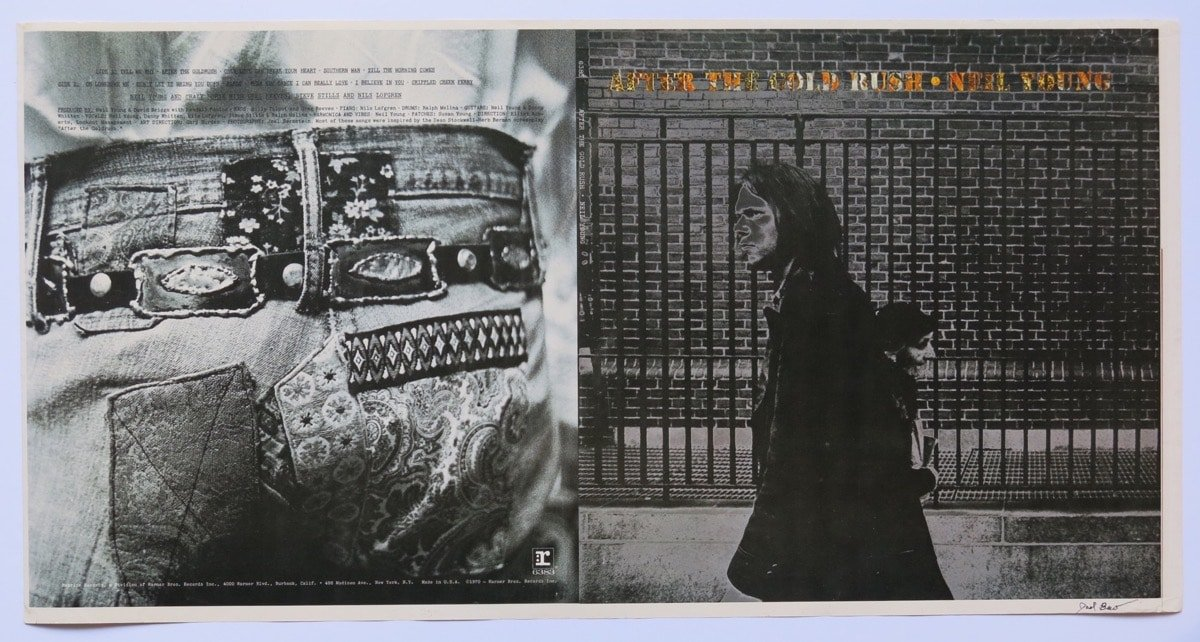 Neil Young  1970 After The Gold Rush Album Cover Proof Signed by Photographer