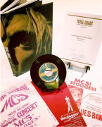 """The Stooges/Iggy Pop – """"Total Chaos,"""" Signed Limited Edition Book With 45, Poster, More…"""