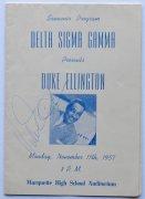 Duke Ellington – 1957 Signed Souvenir Program, with lifetime guarantee