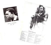 John Coltrane – Program and Handout From Coltrane's Memorial Service