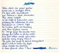 "Leonard Cohen – Original Handwritten Poem Manuscript, Published in his 1968 book ""Selected Poems"""