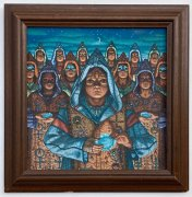 Blue  Oyster Cult – Original Painting Used on 'Fire of Unknown Origin' Album Cover