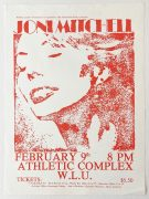 Joni Mitchell – 1974 Canadian 'Court and Spark' Tour Concert Poster