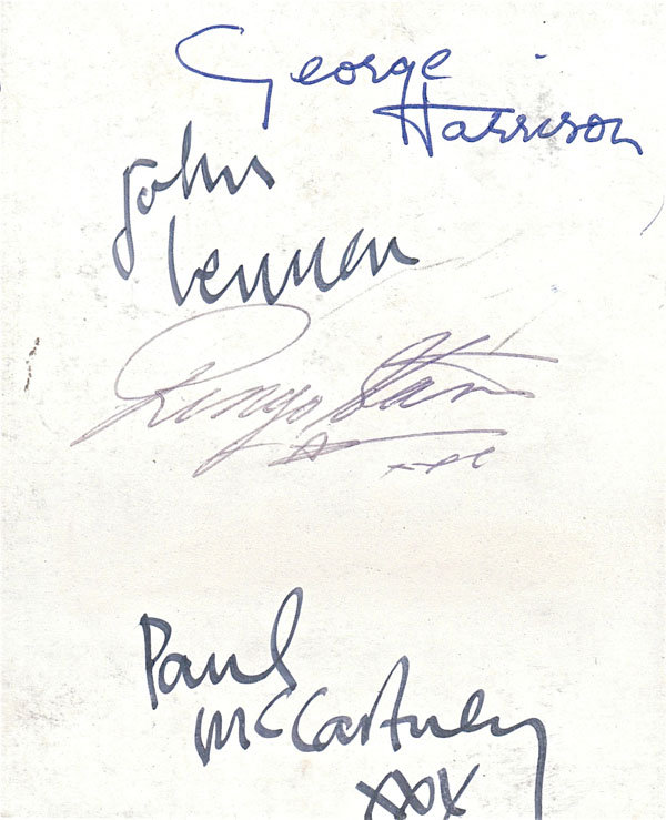 The Beatles  Fully Signed 1962 Parlophone Records Photocard