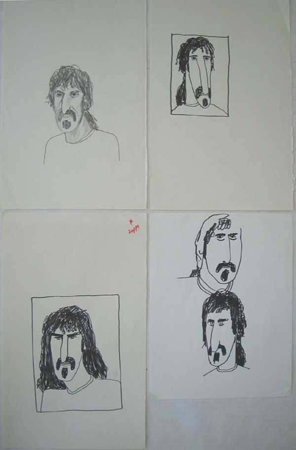 Frank Zappa  8 original Cal Schenkel drawings from Uncle Meat