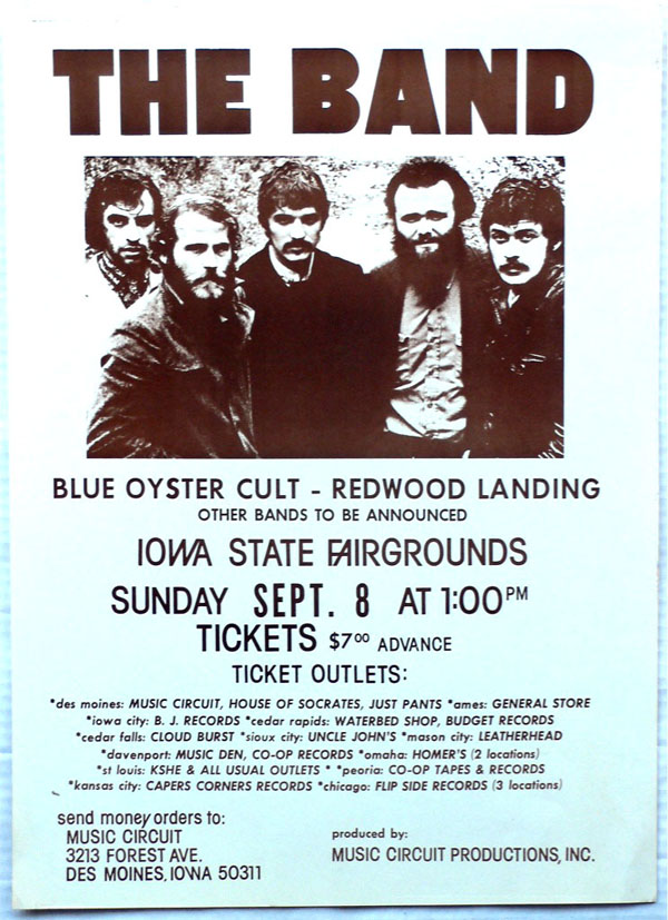the band boxing style concert poster