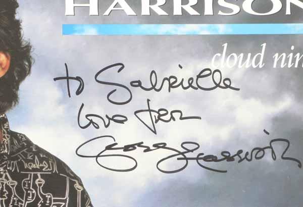 George Harrison  Beatles  Signed CLOUD NINE Album Cover Proof