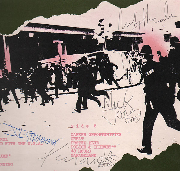 The Clash  Fully Signed Debut LP with 1977 Concert Ticket